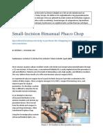 Small-Incision Bimanual Phaco Chop