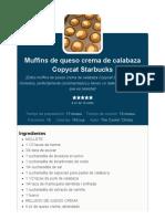 Muffins de queso crema de calabaza Copycat Starbucks - The Cookin Chicks