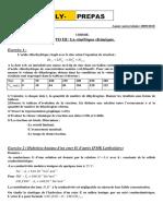 chimie td 3 cinétique chimique
