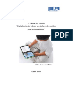 Digitalización del libro y uso de las redes sociales en el sector editorial 2009