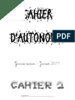 Cahier Autonomie n.2 GS