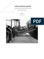 La política migratoria argentina
