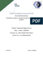 Desarrollar conceptos y describir el grado de innovación del producto.docx