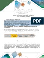 Guia de actividades y Rúbrica de evaluación - Unidad 1 - Reto 2 - hábitos de estudio