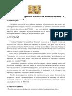 Projeto reciclagem dos marmitex de alumínio do IPPOO II