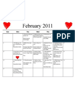 Shortcut to February 2011 Calendar