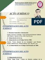 INTERPRETACIÓN DEL ACTO JURÍDICO