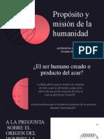 Propósito del ser humano