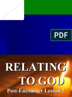 Lesson 2 - RELATING TO GOD