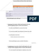 Relationship Between Transaction-Related and Balance-Related Audit Objectives