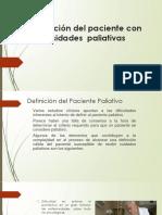 DEFINICION DEL PACIENTE CON NECESIDADES PALIATIVAS