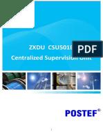 POSTEF_ZXDU CSU501B Centralized Supervision Unit