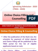 How to fill choices online - A guide by TNEA 2020