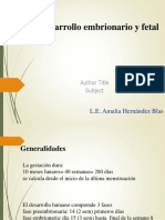 3.3 DESARROLLO EMBRIONARIO Y FETAL