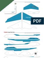 Laminated Paper Airplane 0010405 pattern