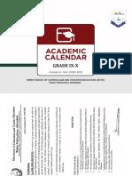 Accelerated Academic Calendar Grades IX-X 2020-21