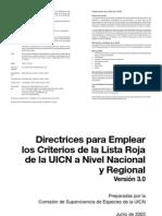 Directrices para usar criterios IUCN a Nivel Nacional y Regional  - Versión 3.0 (vigente al 2009)-1