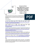 Thayer Select Bibliography of Thayer Publications VIetnam Foreign Policy