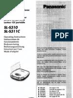 Panasonic SL-S310 CD Manual