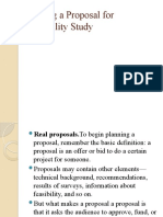 Writing a Proposal for Feasibility Study