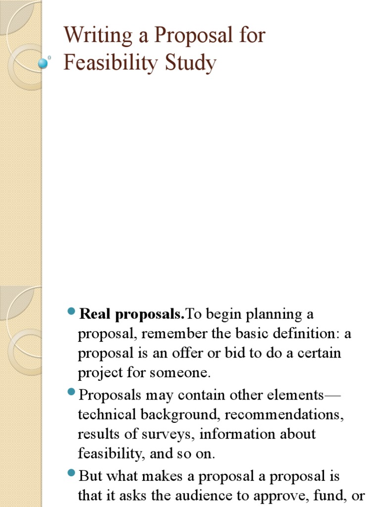 feasibility study proposal example