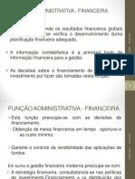 FUNÇÃO ADMINISTRATIVA - FINANCEIRA- AI