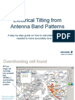Electrical Tilting from Antenna Band Patterns