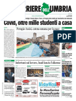 Rassegna stampa giornali nazionali e umbri 12 ottobre 2020 prime pagine