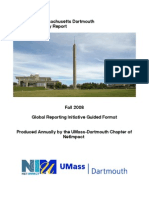 UMass Dartmouth 2008 GRI Sustainability Report (FY 2007)