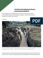 ¿Por qué la deforestación y las extinciones hacen que las pandemias sean más probables_