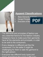 Apparel classifications