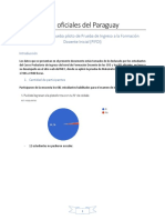 Reporte sobre prueba piloto PIFDI - IFD Oficiales