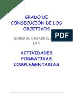 Consecución Objetivos Act. Form Complementarias