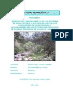 ESTUDIO HIDROLOGICO H2O POTABLE HUANCACHUPA