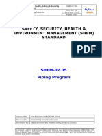 SHEM-07.05 Piping Program