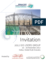 2012 GIS Users Group - Invitation Leaflet