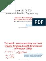 PW_Lec11_Non-elementary Reactions_Enzyme Kinetics
