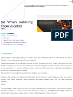 Types of Food to Eat When Detoxing From Alcohol