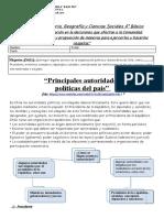 Historia 4º  Principales Autoridades politicas de Chile