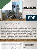 Destilación con recta C