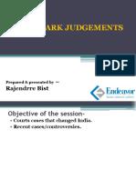 LANDMARK JUDGEMENT