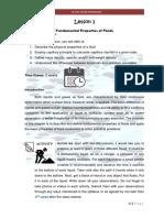 CE 320 - Fluid Mechanics - Module 1 Lesson 1.pdf
