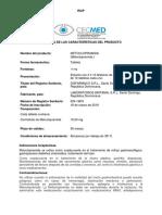 RESUMEN DE LAS CARACTERÍSTICAS DEL PRODUCTO METOCLOPRAMIDA TABLETA