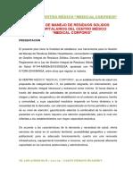 PLAN DE MANEJO DE RESIDUOS SOLIDOS HOSPITALARIOS 2020 CENTRO MÉDICO MEDICAL CORPORIS.pdf