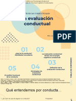 la evaluación conductual