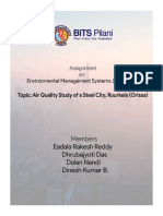 Air Quality Study of a Steel City, Rourkela (EMS Assignment - EEZG515)