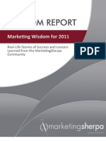 MarketingSherpa 2011 Wisdom Report