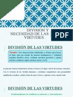 TEMA 19-DIVISIÓN Y NECESIDAD DE LAS VIRTUDES (1)