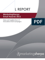 MarketingSherpa Email Awards 2011 Special Report