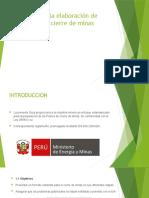 Guía para la elaboración de planes de cierre PPT